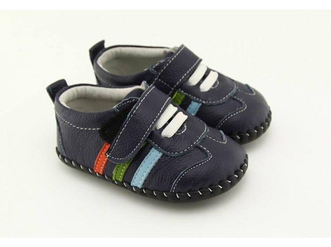 Športové topánočky s pásikmi - námornícka modrá - Freycoo