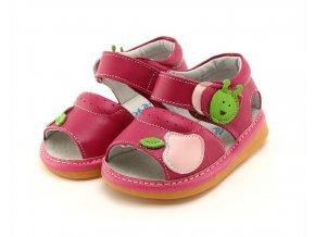 Ružové sandálky Jabĺčko - Freycoo