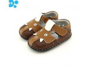 Hnedé sandálky Sloník - Freycoo