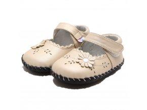 Topánky Kvietok - krémová - Freycoo