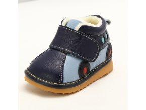 Topánky autíčko - modrá - Freycoo