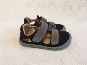 Sandále Kaiman Velcro Velours OCEANGREY M Filii Barefoot 1