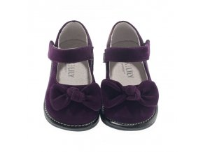 Jessica velvet bow purple - Jack and Lily