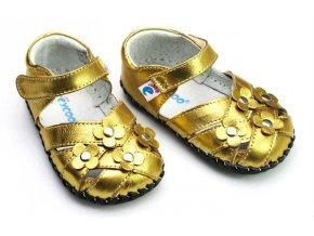 Sandálky - zlatá - Freycoo