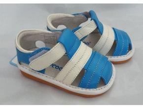 Modro-biele sandálky - Freycoo