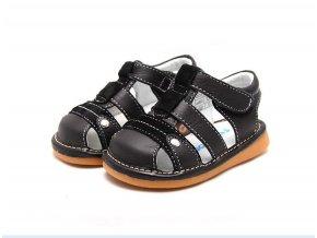 Čierne sandálky - Freycoo
