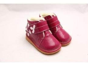 Topánočky s kvetmi - ružová - Freycoo