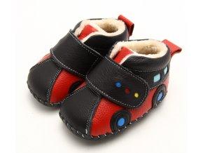 Topánky autíčko - červená - Freycoo