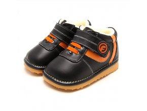Topánočky - oranžové pásiky - Freycoo