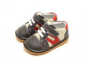 Sivo-béžové topánky - Freycoo