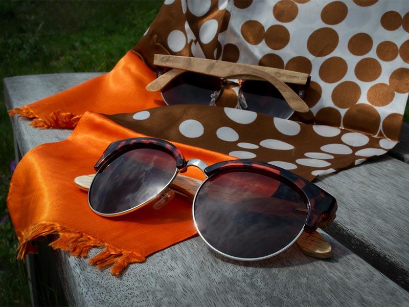 Dřevěné sluneční brýle Duppau Turtle jsou ideální pro srdcovitý obličej