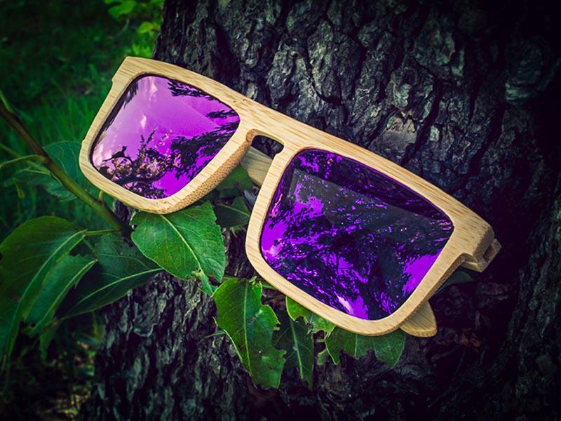 Dřevěné sluneční brýle pro oválný obličej