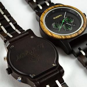 Dřevěné hodinky Duppau Lauri s gravírováním jako dárek pro manželku
