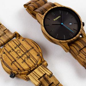 Dřevěné hodinky Duppau Taki s gravírováním jako dárek pro přítelkyni