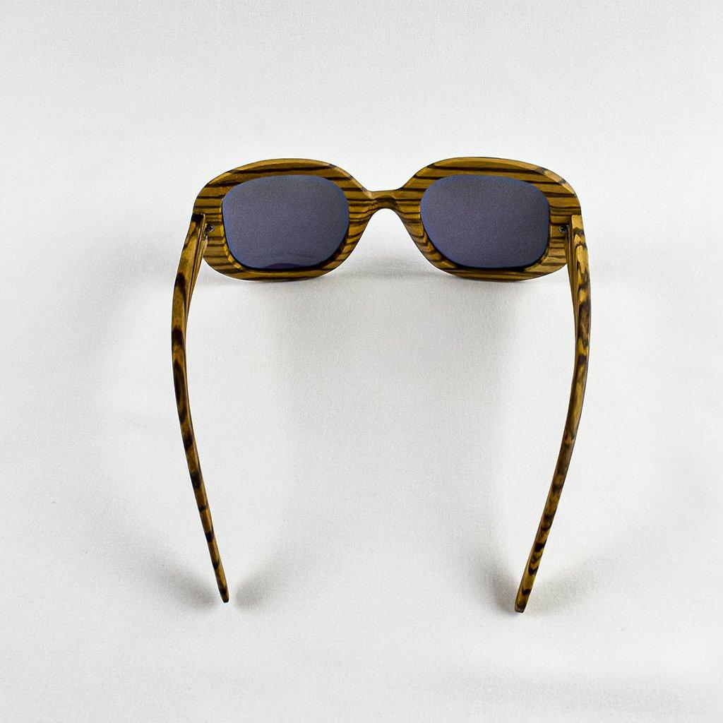 Dřevěné sluneční brýle s polarizačním filtrem - Duppau Fly Zebra Green