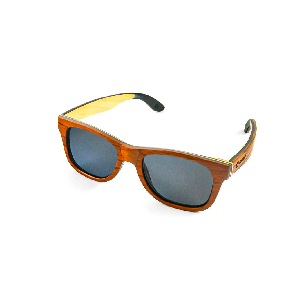 Dřevěné sluneční brýle s polarizačním filtrem - Duppau Skateboard  Pear Wood