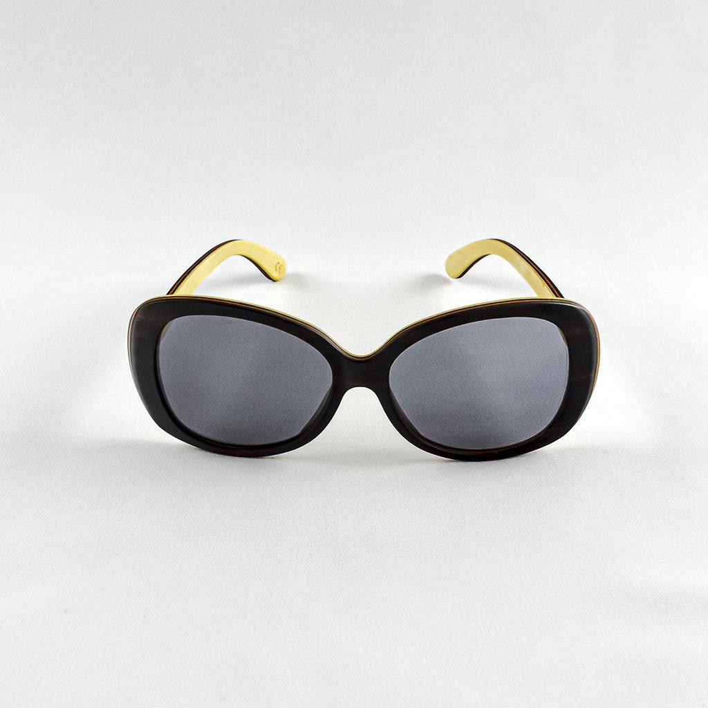 Dřevěné sluneční brýle s polarizačním filtrem - Duppau Black Ebony