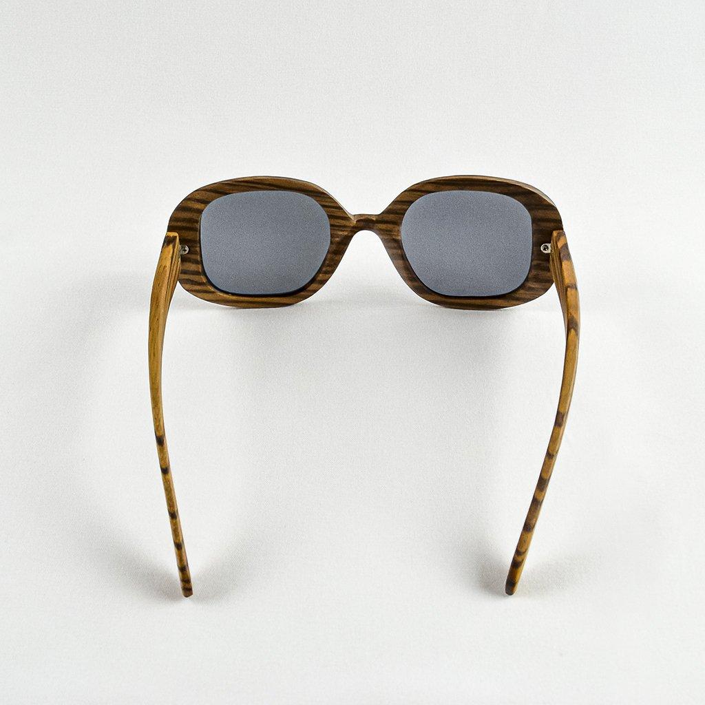 Dřevěné sluneční brýle s polarizačním filtrem - Duppau Fly Zebra Grey