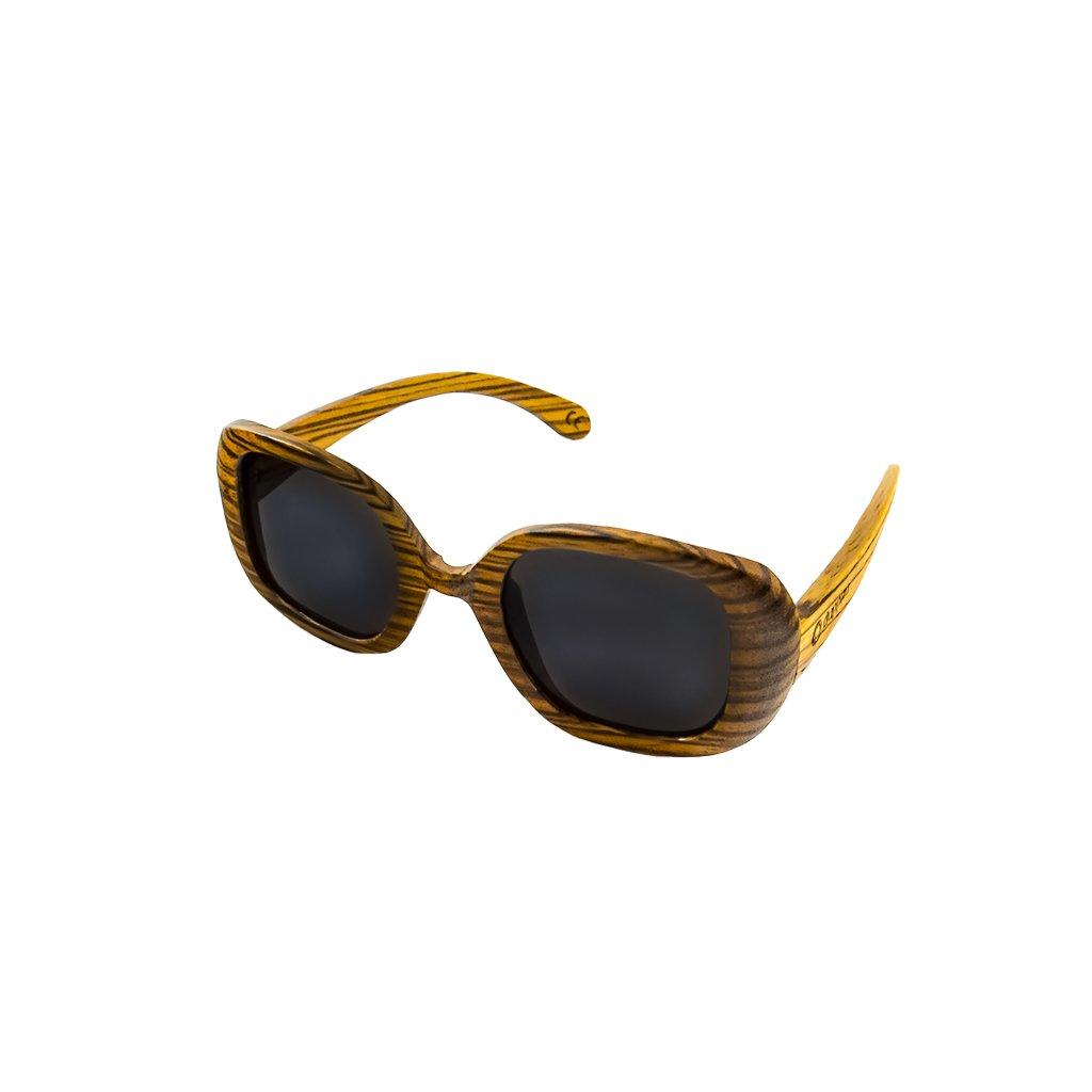 Dřevěné sluneční brýle Duppau Fly Zebra Grey