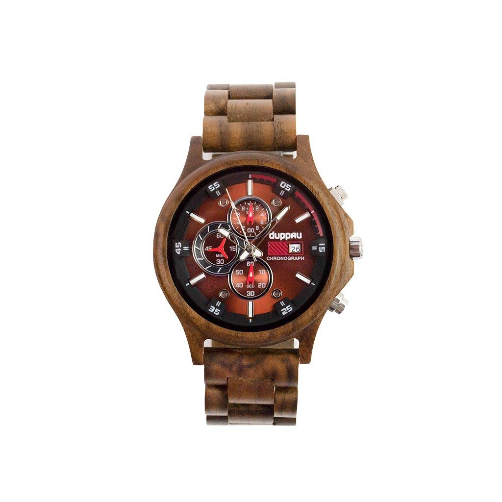 Dřevěné hodinky - Duppau Walnut Chronograph