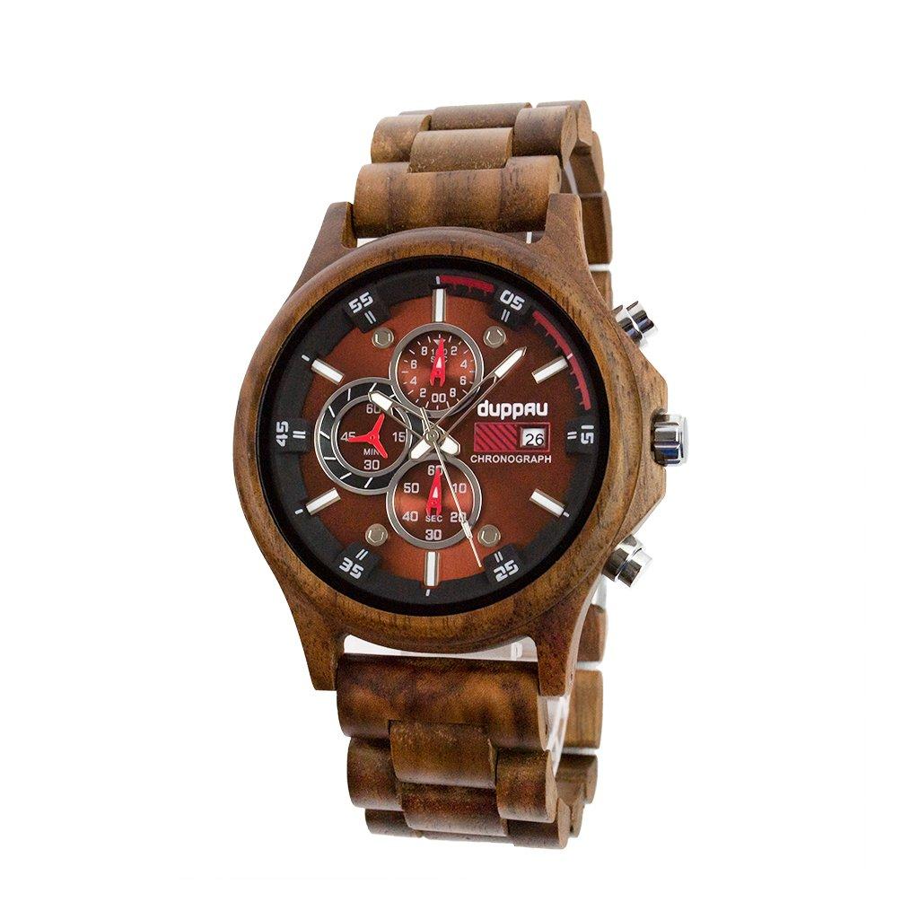 Dřevěné hodinky Duppau Walnut Chronograph