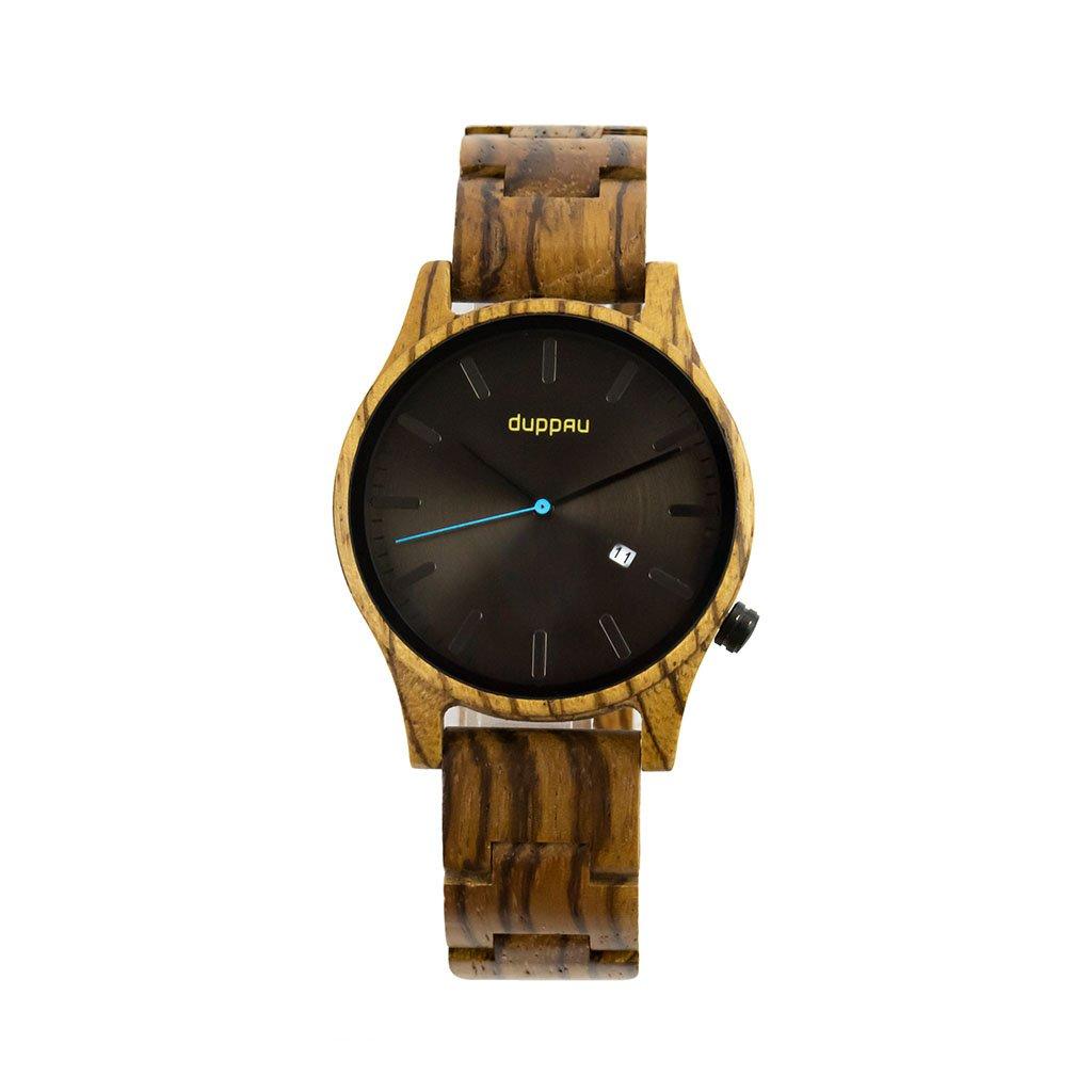 Dřevěné hodinky Duppau Taki ze dřeva zebrano