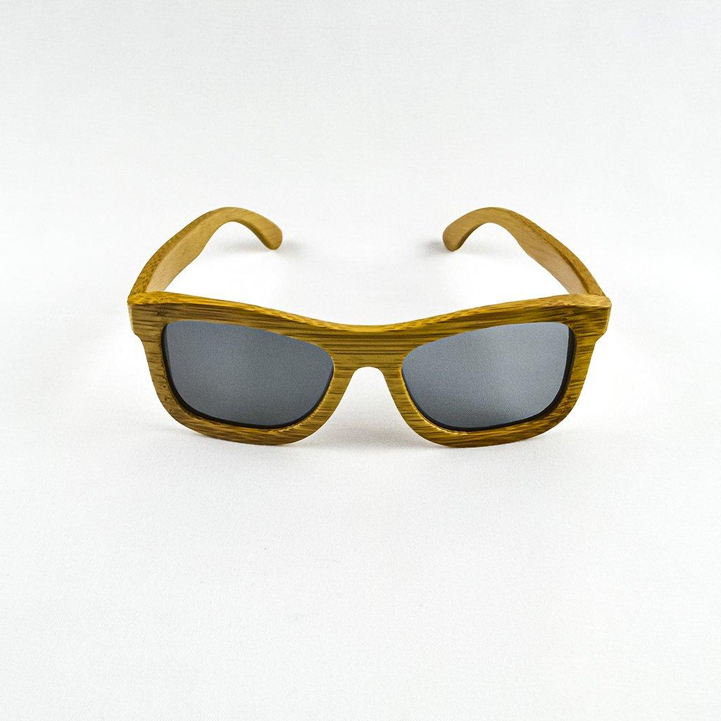 Dřevěné sluneční brýle s polarizačním filtrem - Duppau Carbon Grey