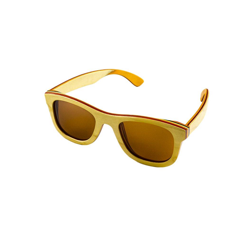 Dřevěné sluneční brýle Duppau Skateboard Nature