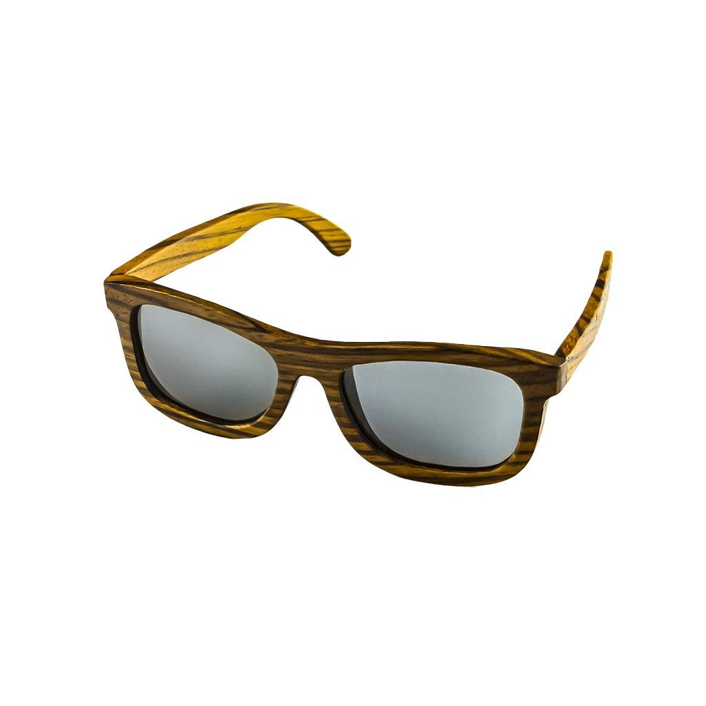 Dřevěné sluneční brýle Duppau Zebra Silver