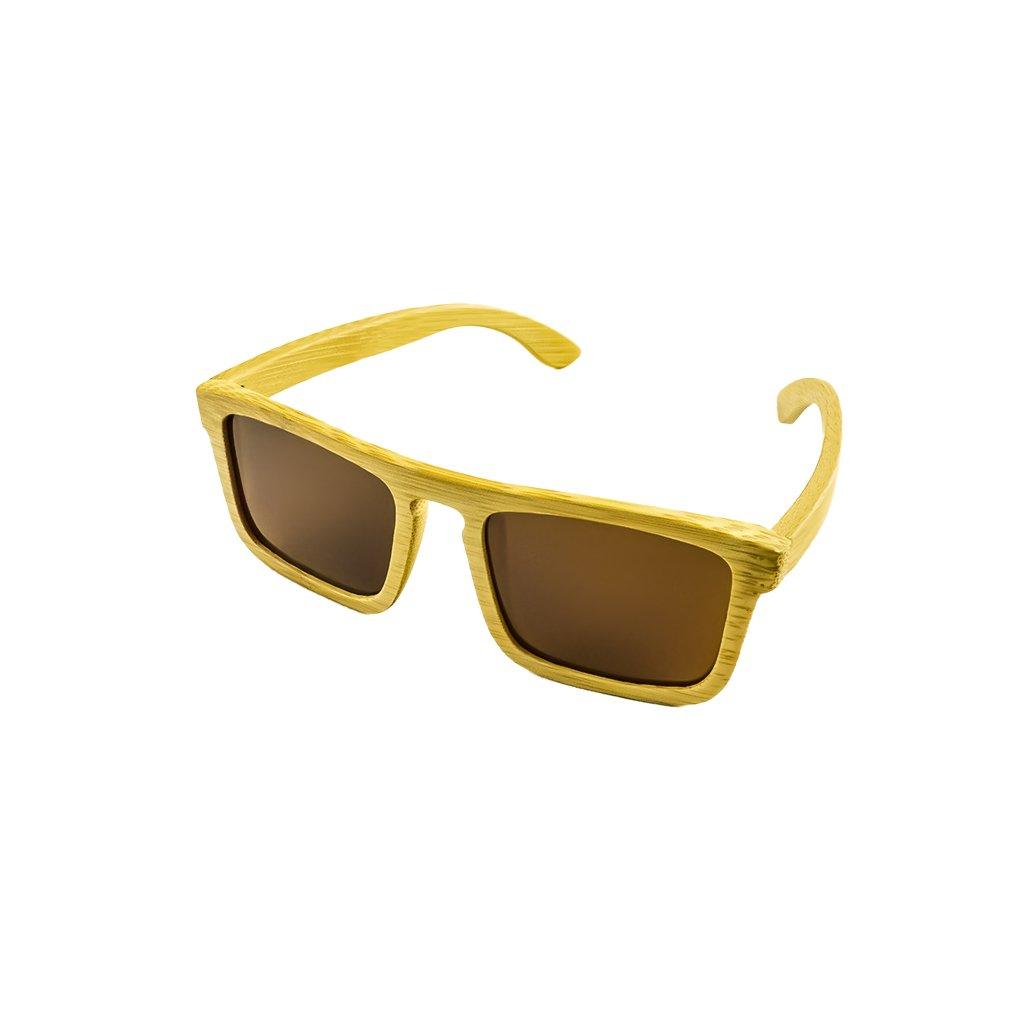 Dřevěné sluneční brýle Duppau Shield Brown