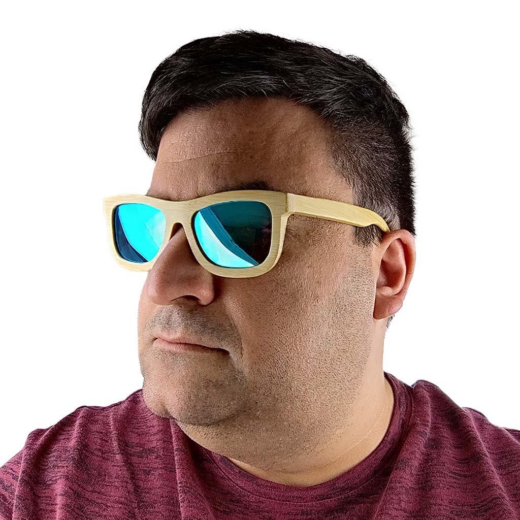 Dřevěné sluneční brýle - Duppau Blue