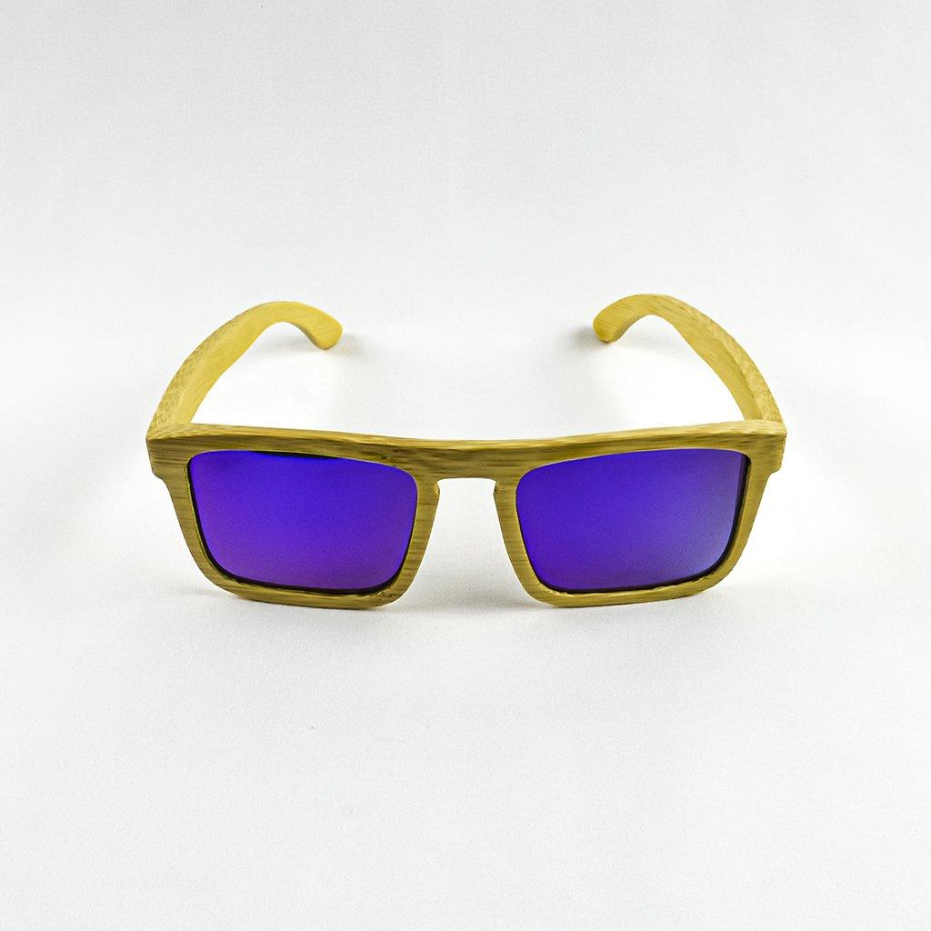 Dřevěné sluneční brýle s polarizačním filtrem - Duppau Purple