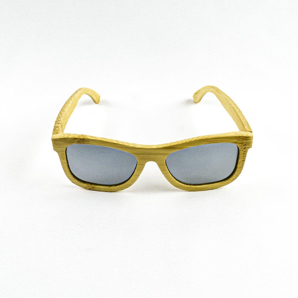 Dřevěné sluneční brýle s polarizačním filtrem - Duppau Carbon Silver