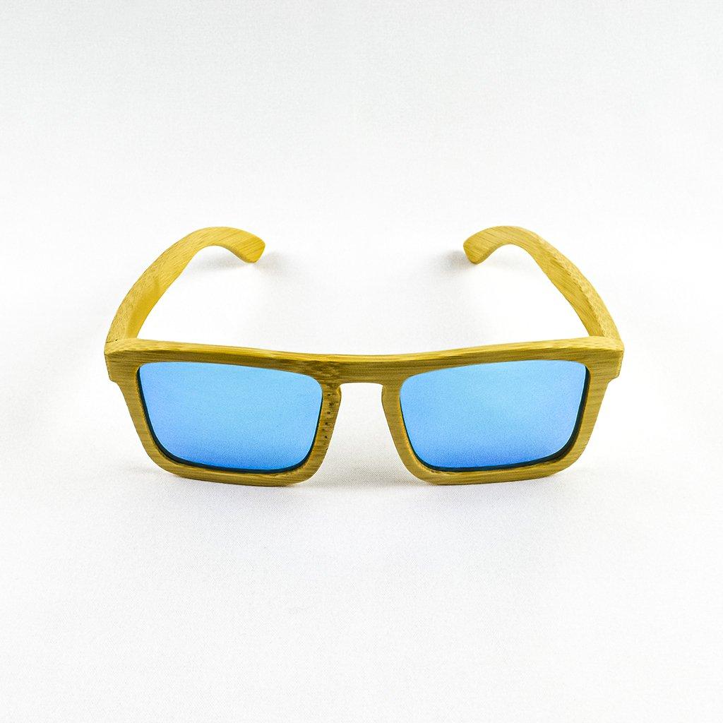 Dřevěné sluneční brýle s polarizačním filtrem - Duppau Shield Blue