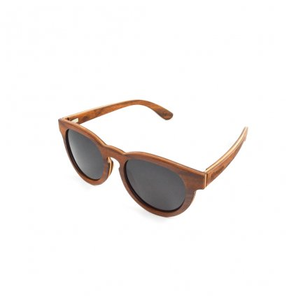 Dřevěné sluneční brýle s polarizačním filtrem - Duppau Red Wood