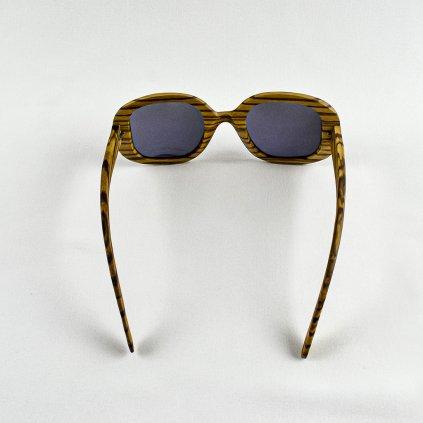 Dřevěné sluneční brýle - Duppau Fly Zebra Green