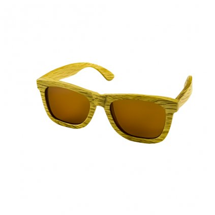 Dřevěné sluneční brýle Duppau Du Brown s polarizačním filtrem