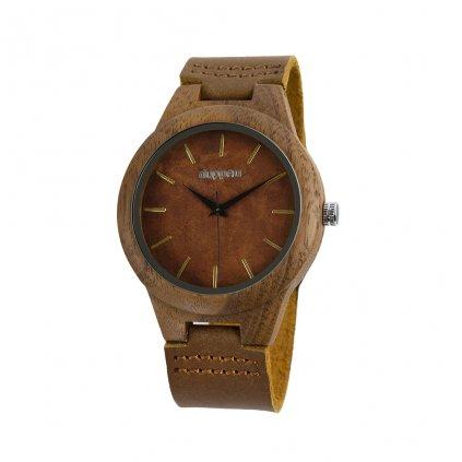 Dřevěné hodinky Duppau Fawn z ořechového dřeva
