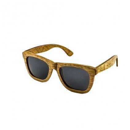 Dřevěné sluneční brýle Duppau Du Grey s polarizačním filtrem