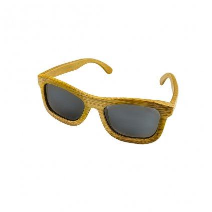 Dřevěné sluneční brýle Duppau Carbon Grey, šedé čočky, bambus