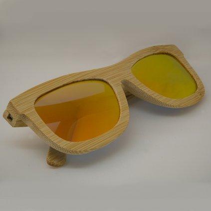 Dřevěné sluneční brýle s polarizačním filtrem - Duppau Carbon Orange