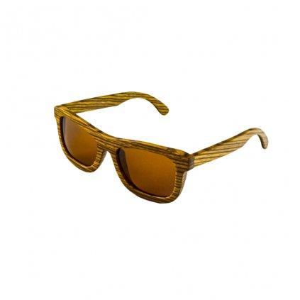 Dřevěné sluneční brýle Duppau Zebra Brown