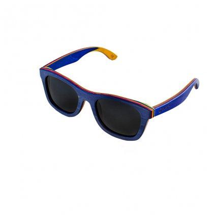 Dřevěné sluneční brýle Duppau Skateboard Grey
