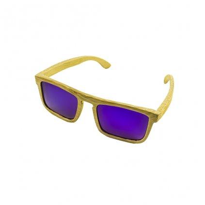 Dřevěné sluneční brýle - Duppau Purple