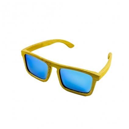 Dřevěné sluneční brýle Duppau Shield Blue