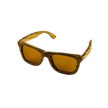 Dřevěné sluneční brýle Duppau Zebra Nose Brown