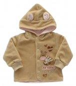 Sametový kabátek s kapucí EWA TUPTUS - růžový