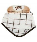 KIKKO Bambusový dětský slintáček/šátek XKKO BMB - natural Squares