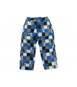 LOAP AROL dětské zimní kalhoty modrá kostka