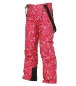 LOAP TEKO pants dětské zimní kalhoty červené kytky